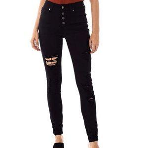NWT Black distressed KanCan jeans 11/29